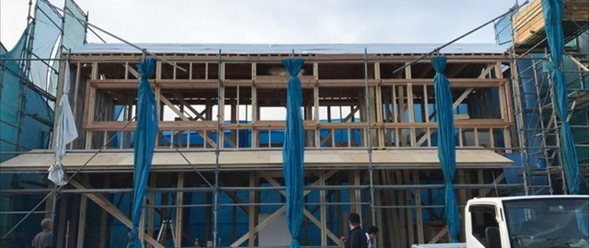 愛知県津島市 「神守の家」 木の家 上棟