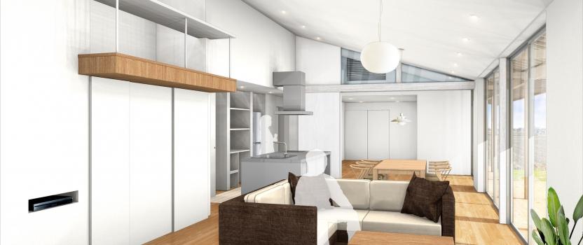 愛知県一宮市 「川原の家」木造住宅 平屋建ガレージハウス 完成オープンハウス