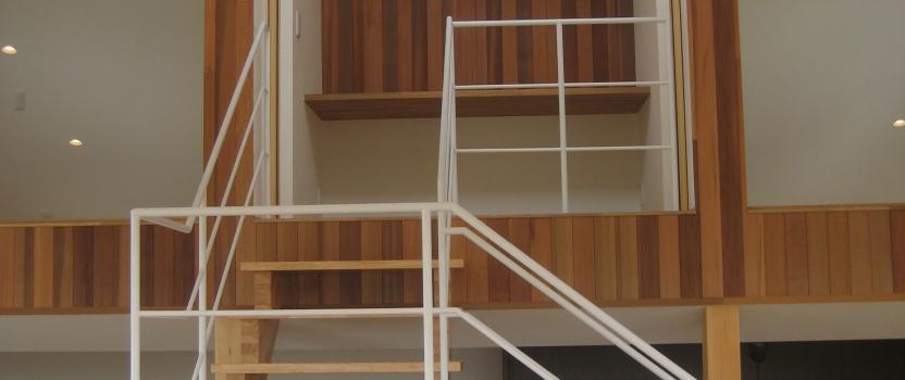 岐阜県養老町「下笠の家」木造2階建 2世帯 平屋棟+スキップフロア棟  現場