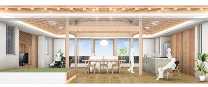 愛知県小牧市「桑原木材㈱モデルハウス」 木造2階建 地鎮祭
