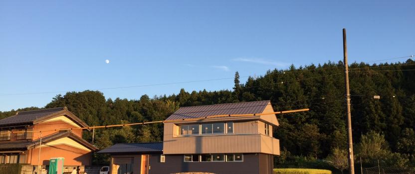 岐阜県山県市「梅原の家」木造2階建て ガレージハウス 現場