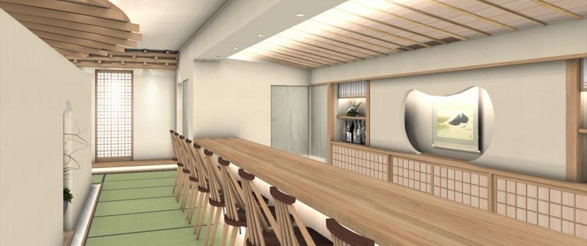中国張家港 「日本料理店」 店舗 実施設計終了