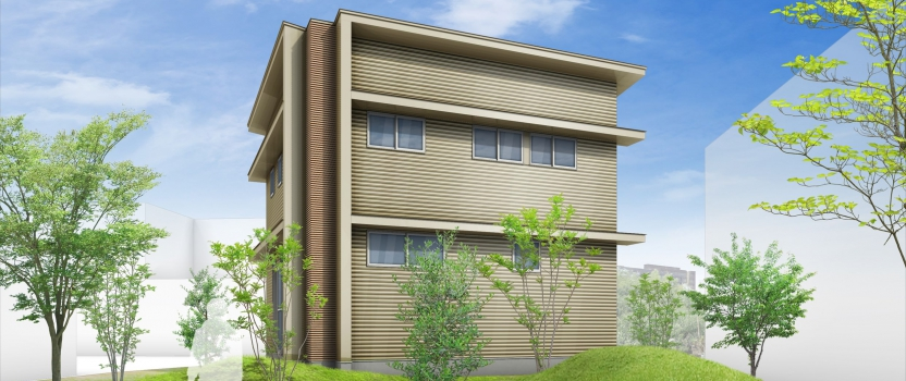愛知県犬山市「つつじヶ丘の家」木造住宅2階建 2世帯 見積り