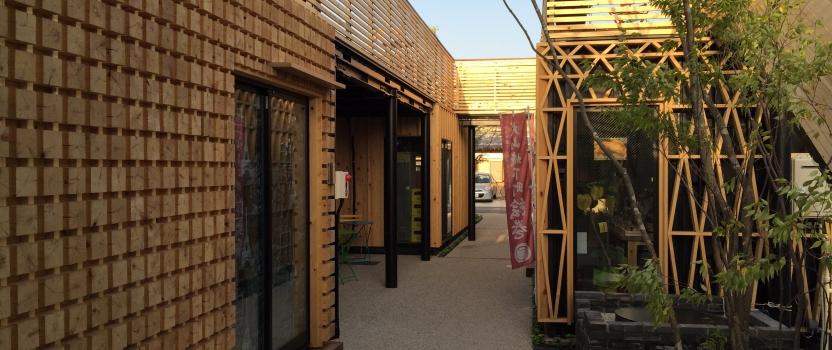 愛知県犬山市「犬山の森マルシェ」商業建築 コンテナ建築