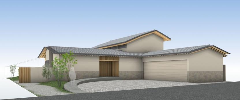 愛知県市稲沢市 「矢合の平屋」工事 実施設計中