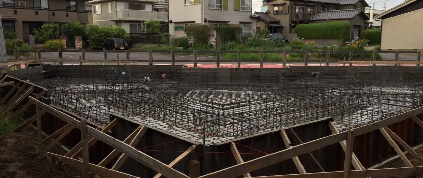 愛知県安城市「塔元の家」木造2階建 スキップフロア 配筋検査