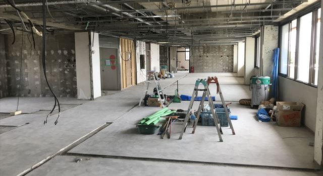 愛知県一宮市 「森整形外科クリニック」工事 2階現場