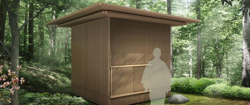 「移動茶室」製作打合で東白川村へ行ってきました。