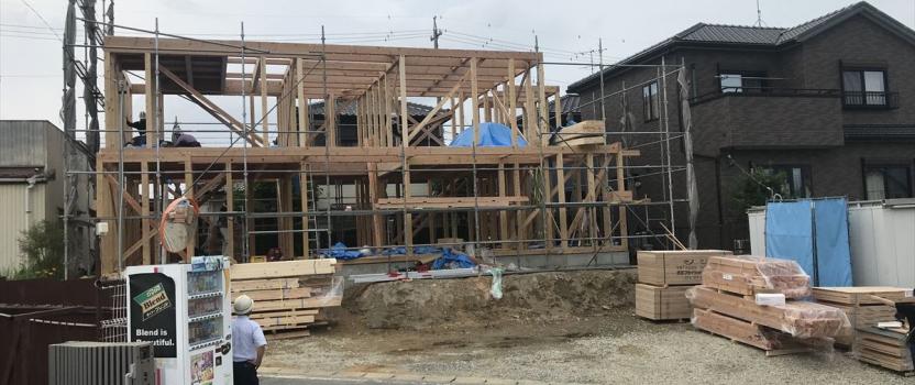 愛知県岡崎市 「上地の家」 木の家 上棟