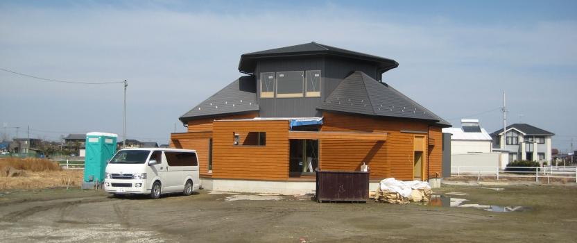 愛知県稲沢市祖父江「開花の家」木造住宅 現場