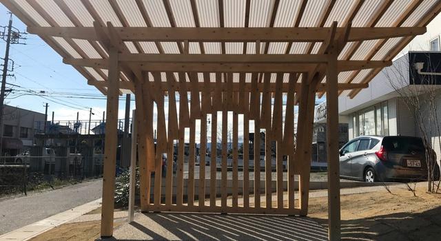 愛知県津島市 「神守の家」 木の家 駐輪場