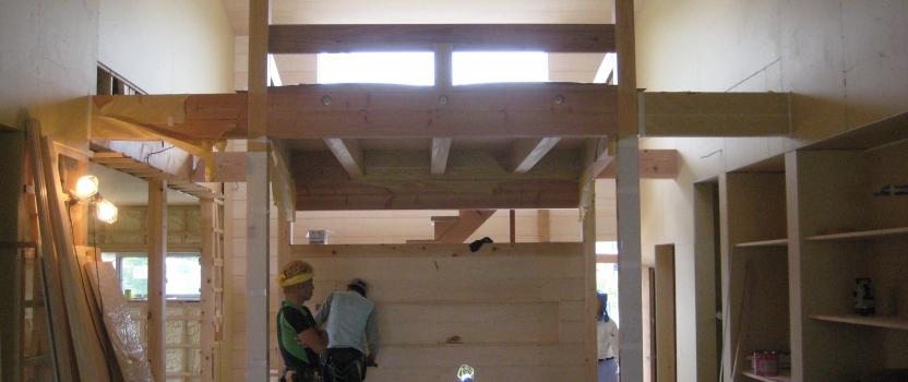 岐阜県羽島市「回光の家」木造住宅 平屋建て 現場