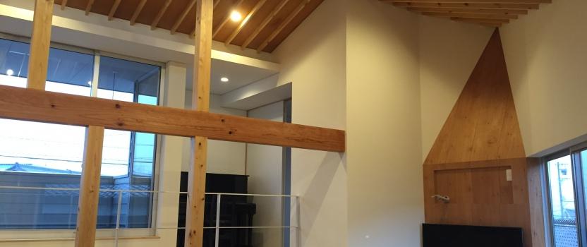 愛知県安城市「塔元の家」木造2階建 スキップフロア・変形敷地 引渡し