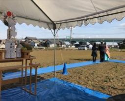 愛知県一宮市 「苅安賀の家」 木の家 地鎮祭